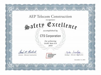 Safety Excellence Recognition